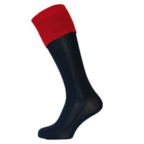 Navy/Red Football Socks