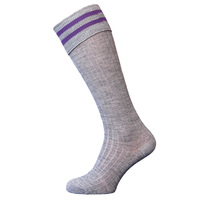 St John's Grey Purple Bar Socks