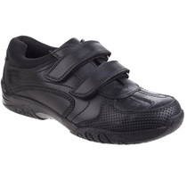 Hush Puppies Black Boys Shoe