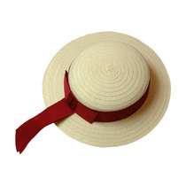 Girls Summer Hat With Red Band