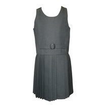 Grey False Belt Pinafore