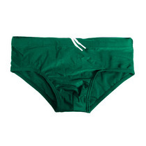 Bottle Green Square Cut Swimming Trunks