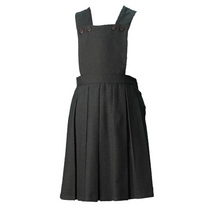 Grey Box Pleat Pinafore