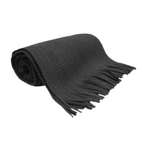 Black Knitted School Scarf
