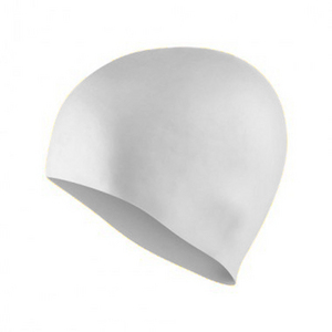 photo of White Silicon Swimming Hat