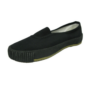 photo of Black Gusset Plimsolls