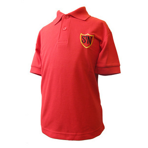 St Nicholas Red Polo Shirt