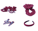 Maroon Hair Accessories